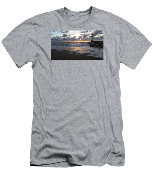 Men's T-Shirt (Slim Fit) featuring the photograph Whelk Shell And Sunrise by Robert Banach