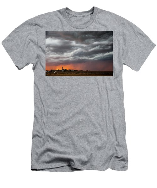 When Trouble Rises.....  Men's T-Shirt (Slim Fit) by Shirley Heier