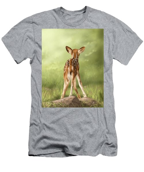 Men's T-Shirt (Slim Fit) featuring the painting Where Is My Mom? by Veronica Minozzi