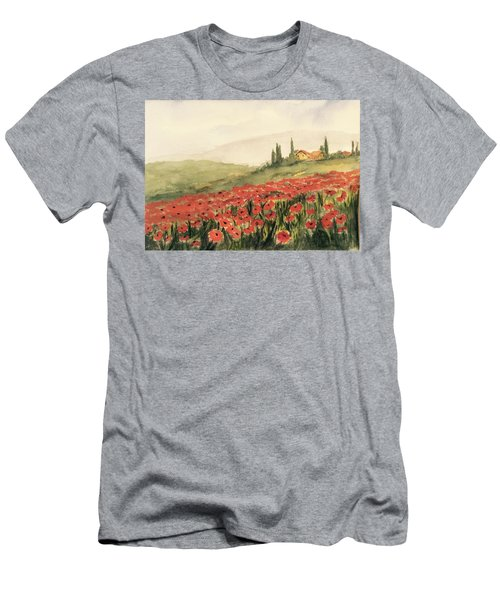 Where Poppies Grow Men's T-Shirt (Slim Fit) by Heidi Patricio-Nadon