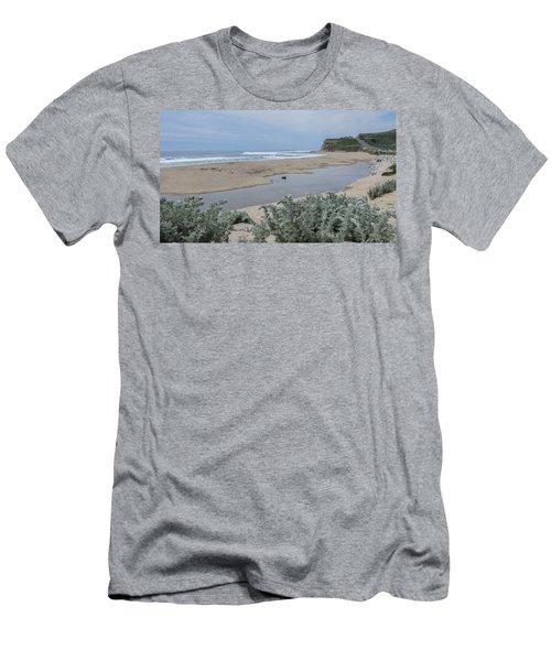 Where Scott Creek Meets The Ocean Men's T-Shirt (Slim Fit) by Mark Barclay
