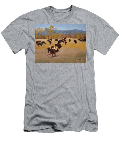 Where The Buffalo Roam Men's T-Shirt (Athletic Fit)