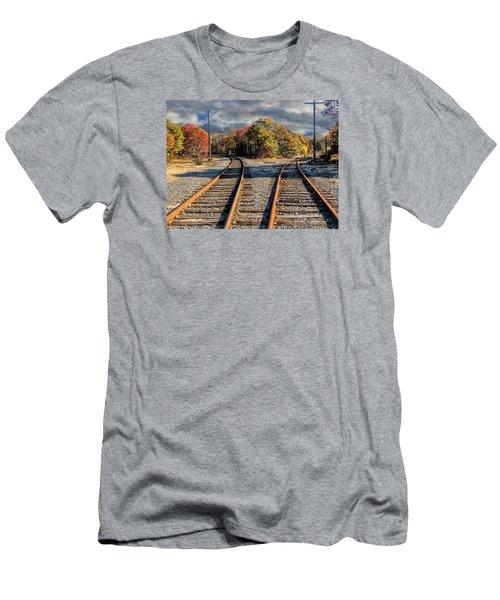 Which Way Men's T-Shirt (Slim Fit) by Constantine Gregory
