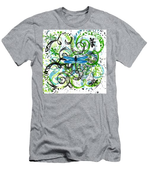 Whimsical Dragonflies Men's T-Shirt (Slim Fit) by Genevieve Esson