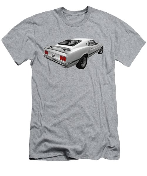 White '69 Mach 1 In Black And White Men's T-Shirt (Athletic Fit)
