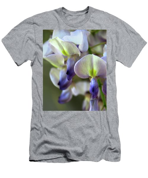 Wisteria White And Purple Men's T-Shirt (Athletic Fit)