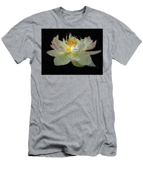 White And Pink Floral Men's T-Shirt (Athletic Fit)