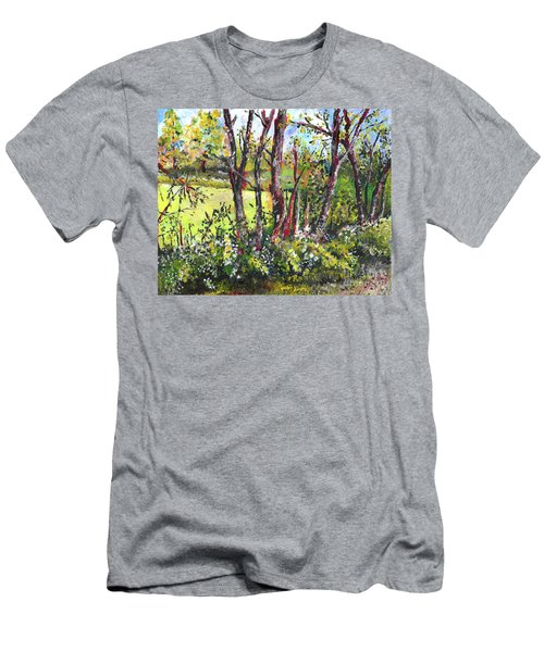 White And Yellow - An Unusual View Men's T-Shirt (Athletic Fit)