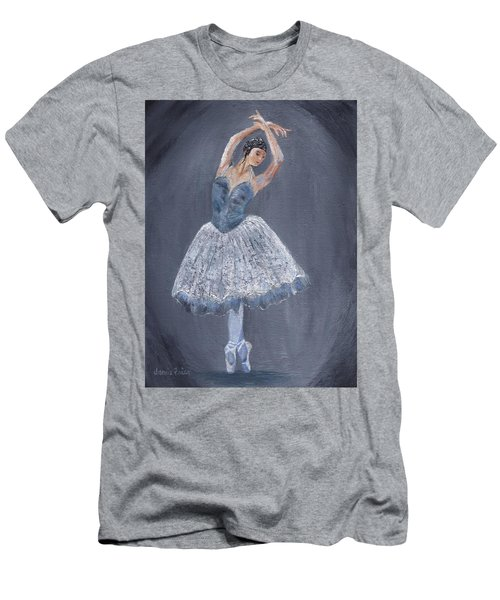 Men's T-Shirt (Athletic Fit) featuring the painting White Ballerina by Jamie Frier