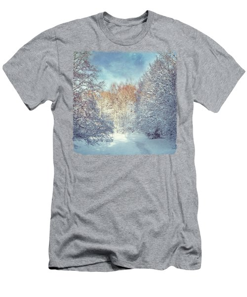 White Blanket - Winter Landscape Men's T-Shirt (Athletic Fit)