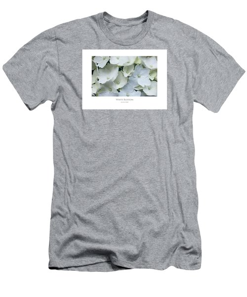Men's T-Shirt (Athletic Fit) featuring the digital art White Blossom by Julian Perry