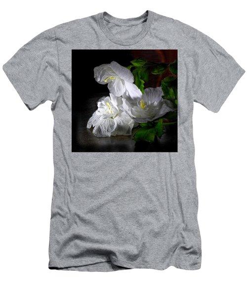 White Blossoms Men's T-Shirt (Athletic Fit)