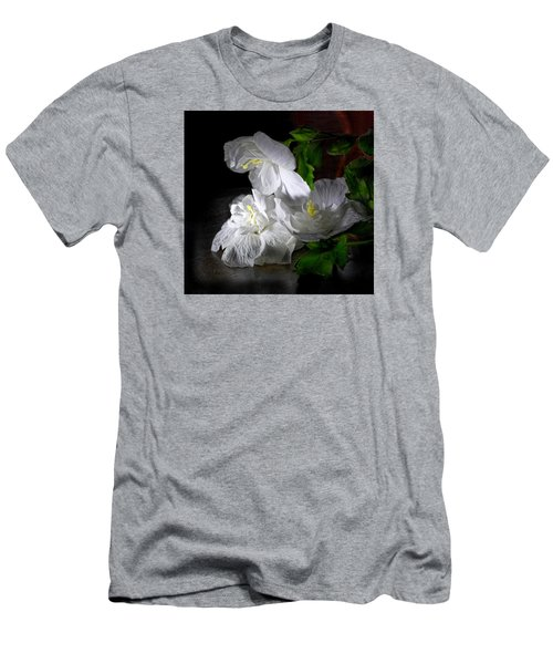 White Blossoms Men's T-Shirt (Athletic Fit)