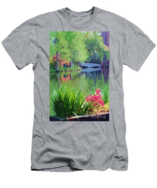Men's T-Shirt (Athletic Fit) featuring the photograph White Bridge by Donna Bentley