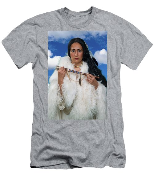 White Buffalo Calf Woman Men's T-Shirt (Athletic Fit)