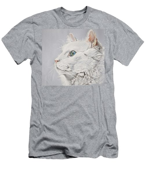 White Cat Men's T-Shirt (Athletic Fit)