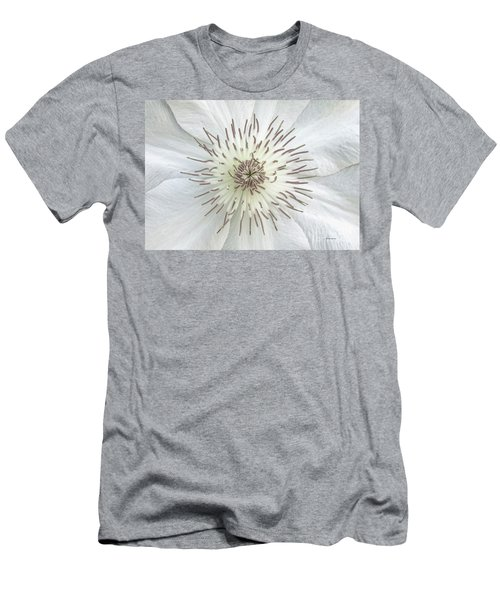 White Clematis Flower Garden 50121b Men's T-Shirt (Athletic Fit)