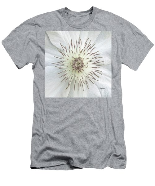 White Clematis Flower Macro 50121c Men's T-Shirt (Athletic Fit)