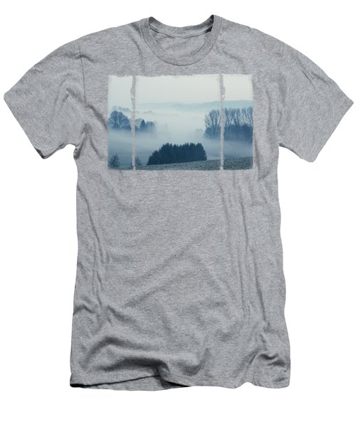 White Cover - Misty Fields Men's T-Shirt (Athletic Fit)