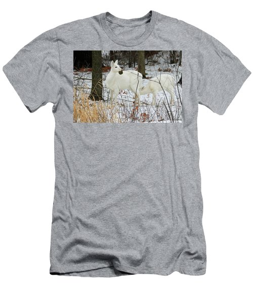 White Deer With Squash 2 Men's T-Shirt (Athletic Fit)