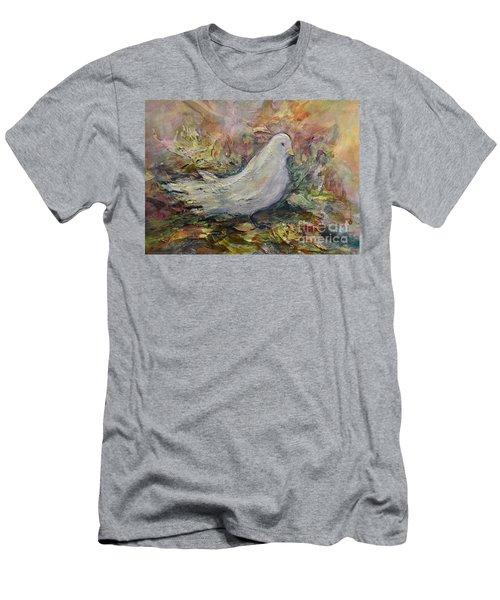 White Dove Men's T-Shirt (Athletic Fit)