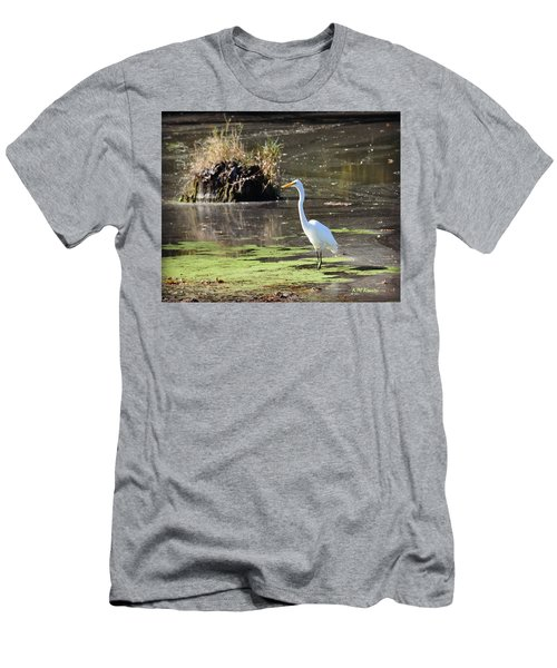 White Egret In The Shallows Men's T-Shirt (Athletic Fit)