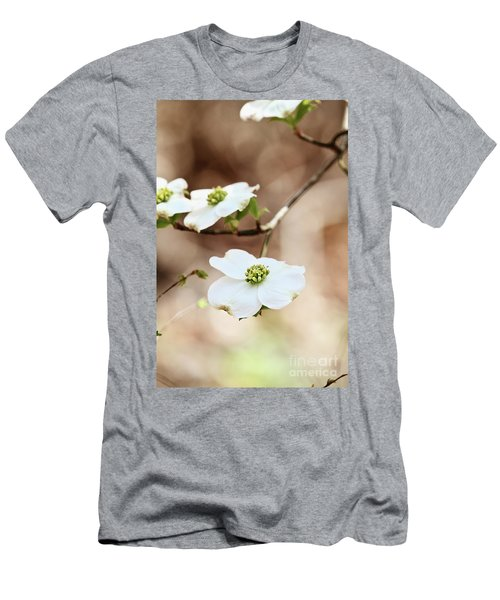 Men's T-Shirt (Slim Fit) featuring the photograph White Flowering Dogwood Tree Blossom by Stephanie Frey