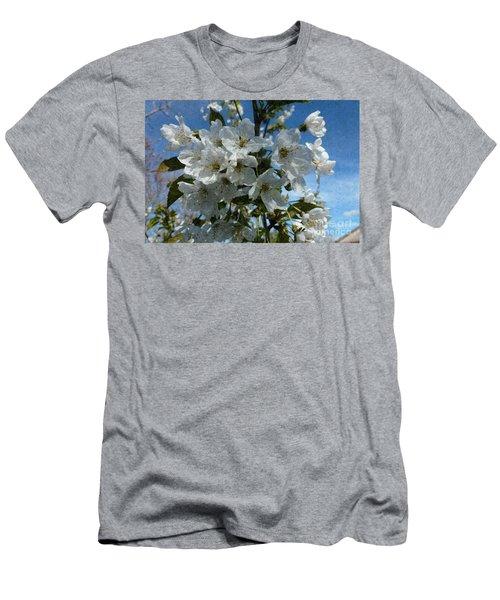 White Flowers - Variation 2 Men's T-Shirt (Athletic Fit)