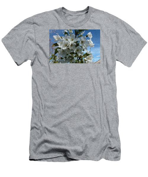 White Flowers - Variation 2 Men's T-Shirt (Athletic Fit)
