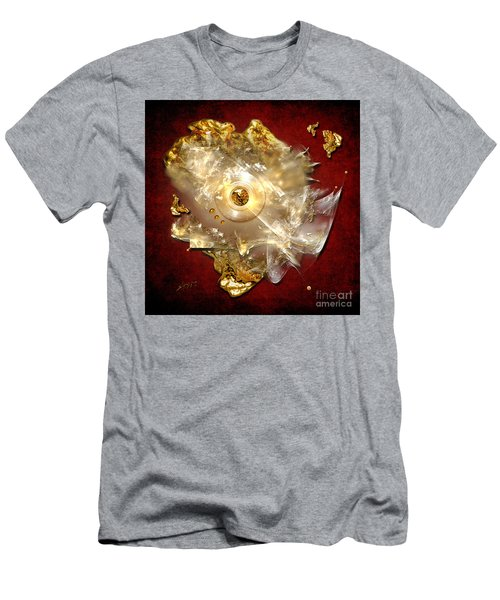 Men's T-Shirt (Slim Fit) featuring the painting White Gold by Alexa Szlavics