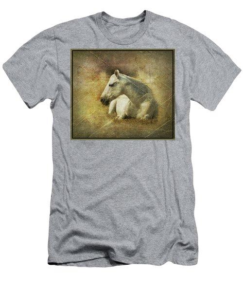 White Horse Art Men's T-Shirt (Athletic Fit)