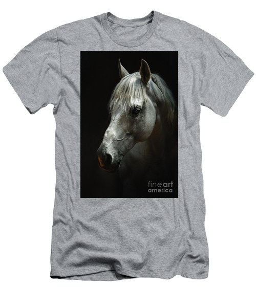 White Horse Portrait Men's T-Shirt (Athletic Fit)
