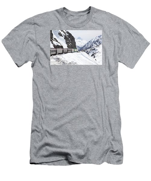 White Journey Men's T-Shirt (Athletic Fit)