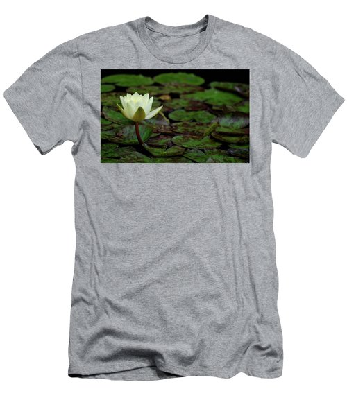 White Lily In The Pond Men's T-Shirt (Athletic Fit)