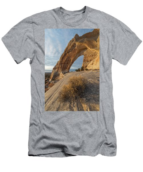 Men's T-Shirt (Slim Fit) featuring the photograph White Mesa Arch by Dustin LeFevre