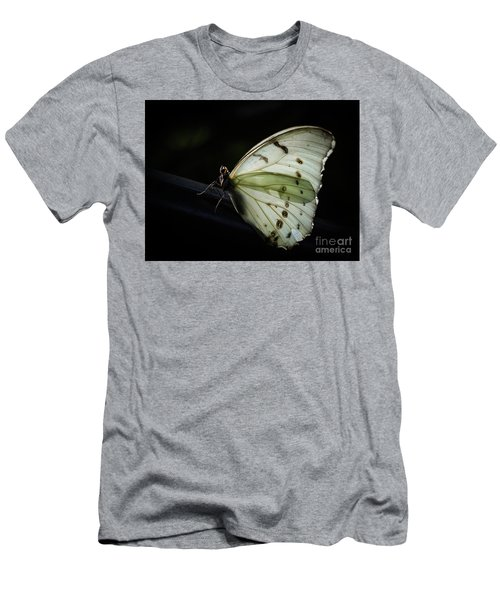 White Morpho In The Moonlight Men's T-Shirt (Athletic Fit)