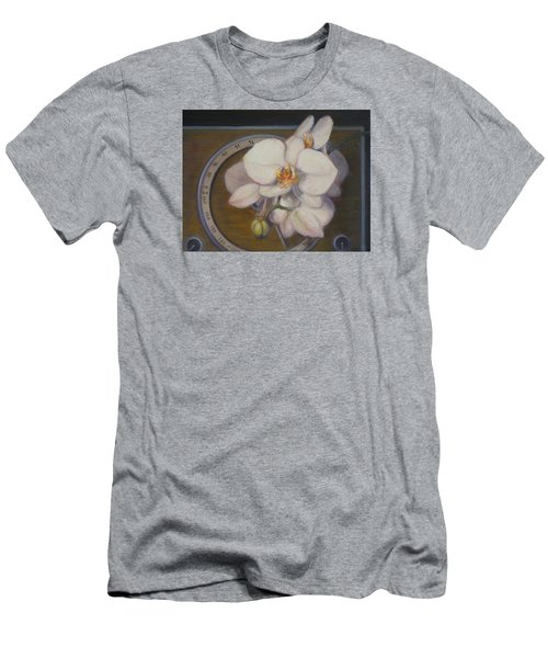 White Orchids Men's T-Shirt (Slim Fit) by Donelli  DiMaria