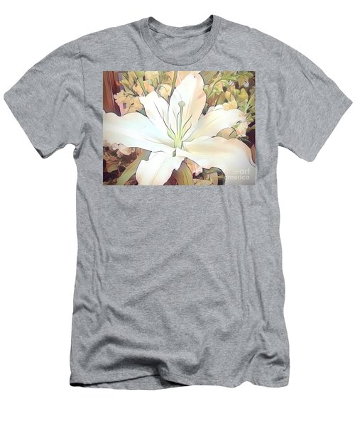 White Painted Lily Men's T-Shirt (Athletic Fit)