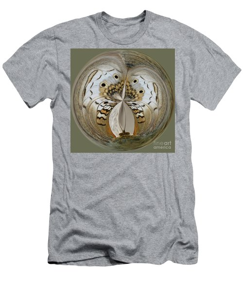 White Peacock Butterfly Orb Men's T-Shirt (Athletic Fit)