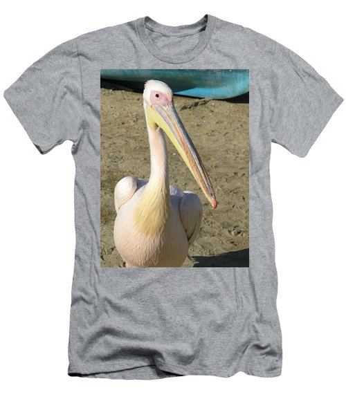 Men's T-Shirt (Slim Fit) featuring the photograph White Pelican by Sally Weigand