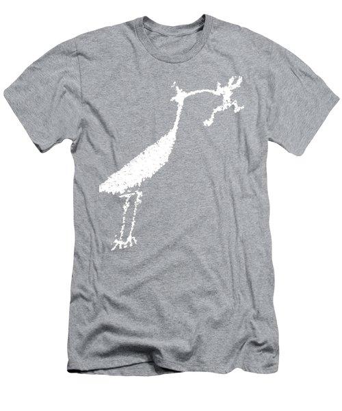 White Petroglyph Men's T-Shirt (Slim Fit) by Melany Sarafis