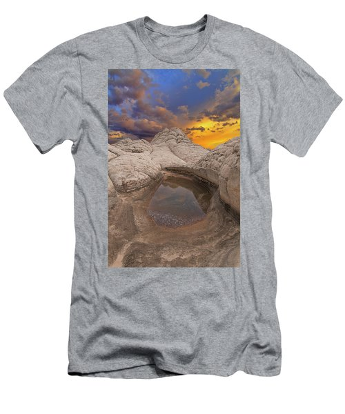 White Pocket Sunset Men's T-Shirt (Athletic Fit)