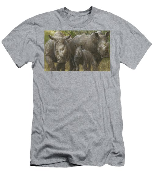White Rhino Family - The Face That Only A Mother Could Love Men's T-Shirt (Athletic Fit)