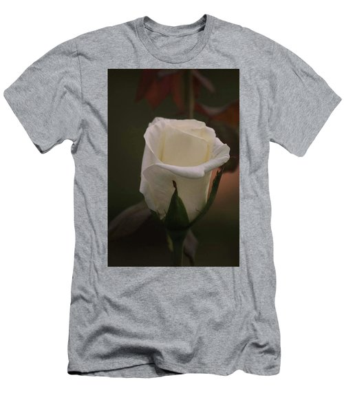 Men's T-Shirt (Slim Fit) featuring the photograph White Rose by Donna G Smith