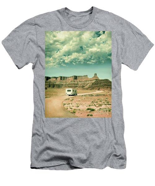 Men's T-Shirt (Slim Fit) featuring the photograph White Rv In Utah by Jill Battaglia