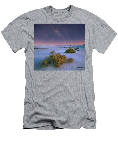 White Sands Starry Night Men's T-Shirt (Slim Fit) by Tim Fitzharris
