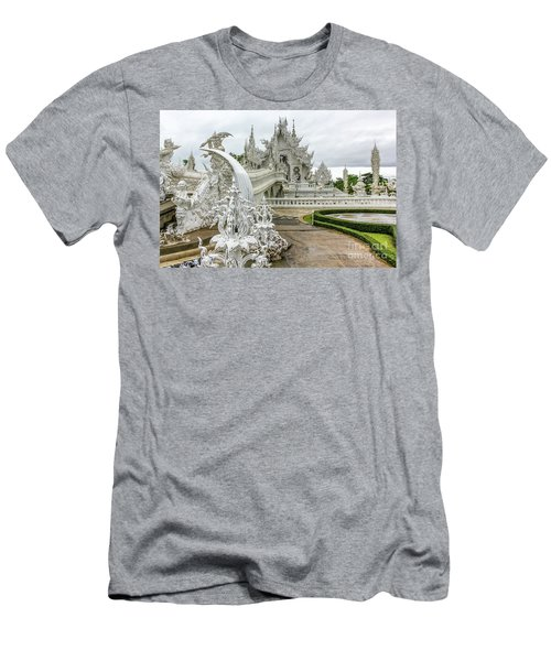 White Temple Thailand Men's T-Shirt (Athletic Fit)