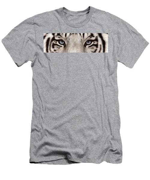 White Tiger Eyes Men's T-Shirt (Athletic Fit)