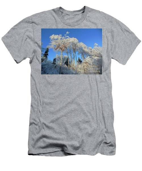 White Trees Clear Skies Men's T-Shirt (Athletic Fit)