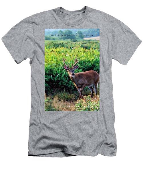 Whitetail Deer Panting Men's T-Shirt (Athletic Fit)